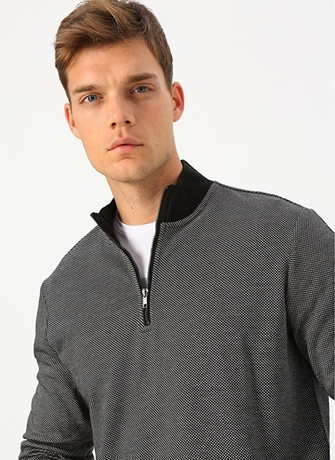 Cotton Bar Sweatshirt Siyah